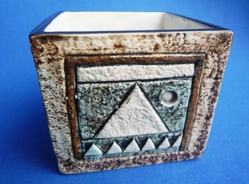 Troika Pottery Cube by Shirley Wharf